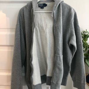 Polo Large light gray Zip up Hoodie in great shape